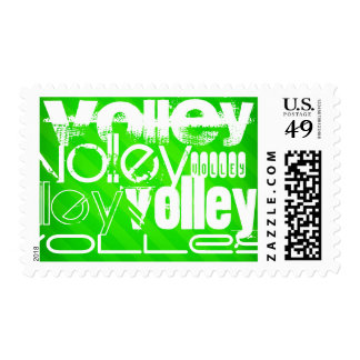 Volley; Neon Green Stripes Stamp