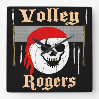 Volley Rogers [BlackwoodCastle] Square Wall Clock