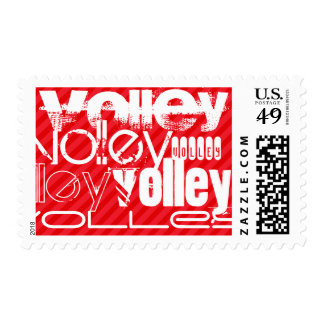 Volley; Scarlet Red Stripes Postage Stamps