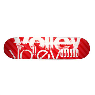 Volley; Scarlet Red Stripes Skateboard