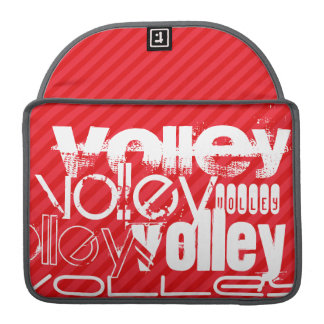 Volley; Scarlet Red Stripes Sleeve For MacBook Pro