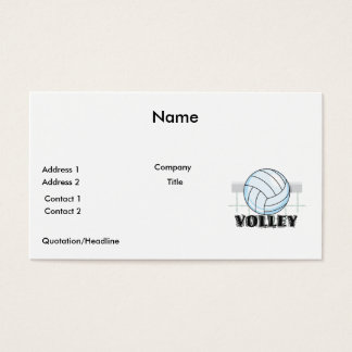 volley volleyball graphic and text business card