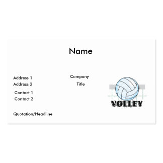 volley volleyball graphic and text Double-Sided standard business cards (Pack of 100)