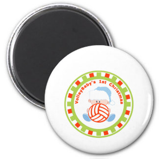 VolleyBaby's First Christmas Boy personalize Refrigerator Magnets