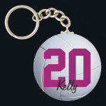 "Volleybal Sports Keychain<br><div class=""desc"">Volleyball keychain with custom name by WRKDesigns.</div>"