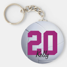 Volleybal Sports Keychain at Zazzle