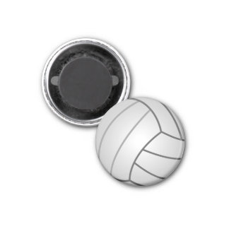Volleyball 1 Inch Round Magnet