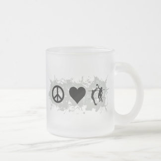 Volleyball 2 frosted glass coffee mug