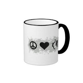 Volleyball 2 ringer mug