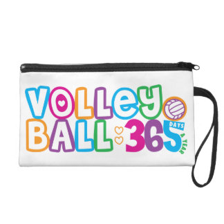 Volleyball 365 Days A Year Wristlet Clutches