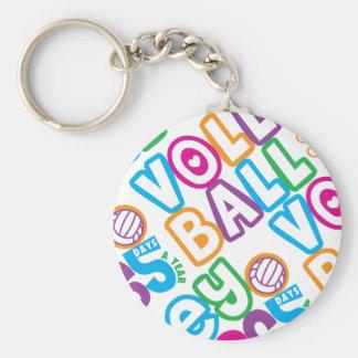 Volleyball 365 Days A Year Basic Round Button Keychain