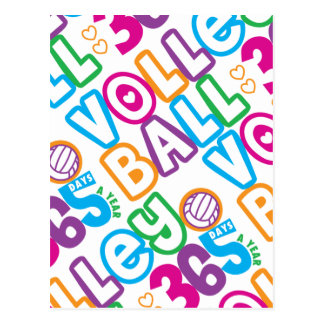 Volleyball 365 Days A Year Postcard