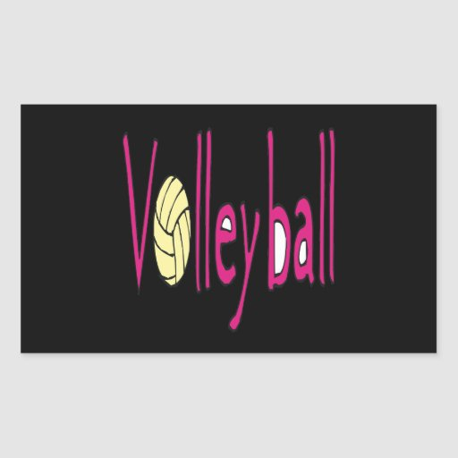 Volleyball 9 rectangle sticker