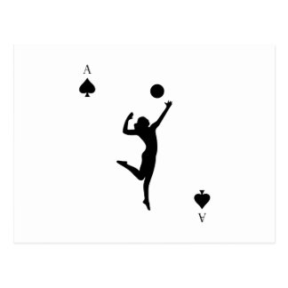 Volleyball Ace of Courts Funny Postcard