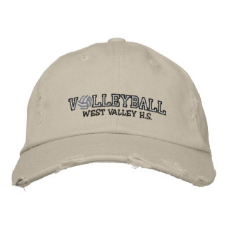 Volleyball - Add your school Embroidered Baseball Hat