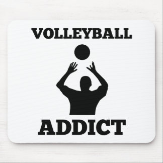 Volleyball Addict Mouse Pad