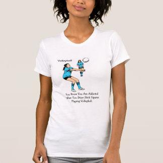 Volleyball Adiction Tee Shirts
