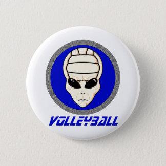 Volleyball Alien Pinback Button