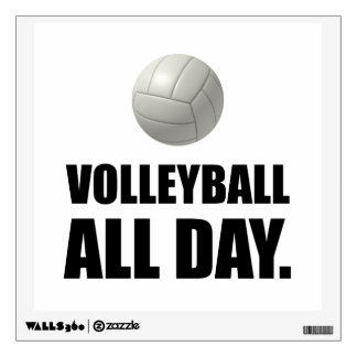 Volleyball All Day Wall Sticker