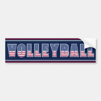 Volleyball Americana Edition Bumper Sticker