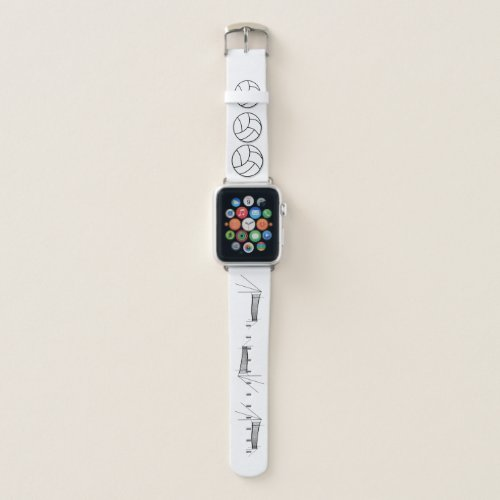 Volleyball And Net Apple Watch Band