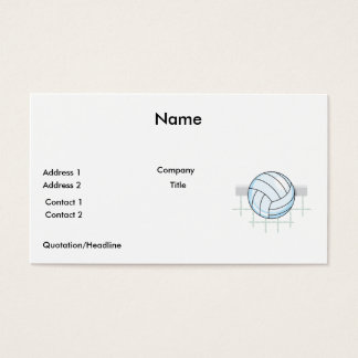 volleyball and net graphic business card