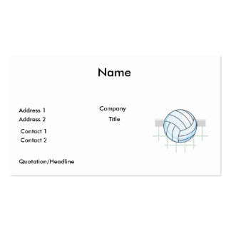 volleyball and net graphic Double-Sided standard business cards (Pack of 100)