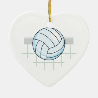 volleyball and net graphic christmas tree ornaments