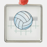 volleyball and net graphic ornaments