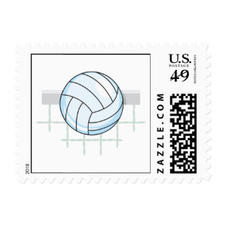 volleyball and net graphic postage stamps
