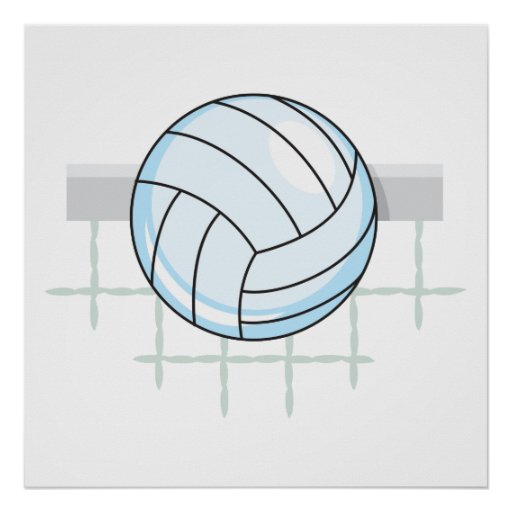 volleyball and net graphic print