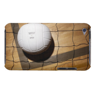Volleyball and net on hardwood floor Case-Mate iPod touch case