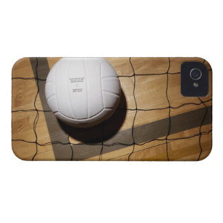 Volleyball and net on hardwood floor iPhone 4 cover