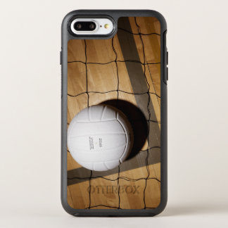 Volleyball and net on hardwood floor OtterBox symmetry iPhone 7 plus case