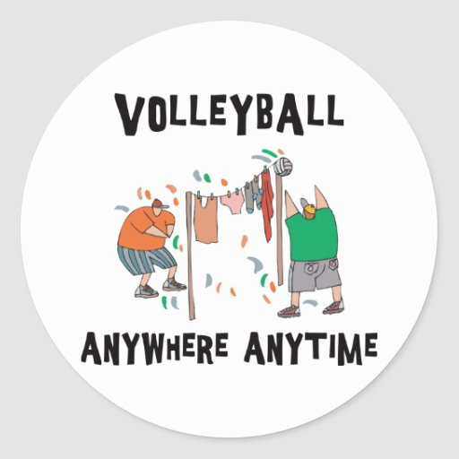 Volleyball AnyWhere Anytime Stickers