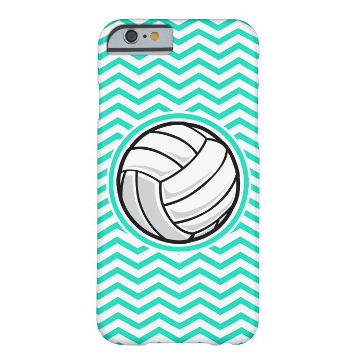Volleyball; Aqua Green Chevron Barely There iPhone 6 Case