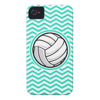 Volleyball; Aqua Green Chevron iPhone 4 Case-Mate Case
