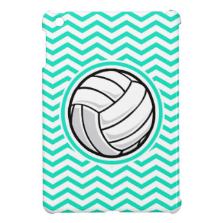 Volleyball; Aqua Green Chevron Case For The iPad Mini