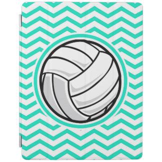 Volleyball; Aqua Green Chevron iPad Cover