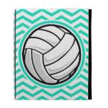 Volleyball; Aqua Green Chevron iPad Folio Covers