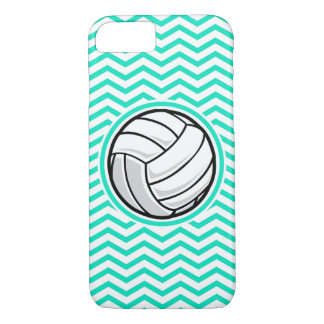 Volleyball; Aqua Green Chevron iPhone 8/7 Case