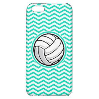 Volleyball; Aqua Green Chevron Cover For iPhone 5C
