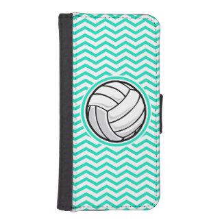 Volleyball; Aqua Green Chevron iPhone SE/5/5s Wallet
