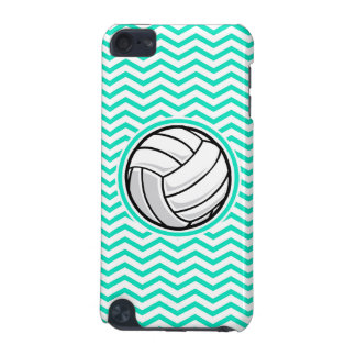 Volleyball; Aqua Green Chevron iPod Touch (5th Generation) Case