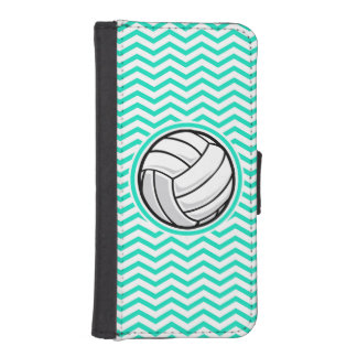 Volleyball; Aqua Green Chevron iPhone 5 Wallets