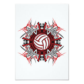 Volleyball Art Invitations