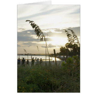Volleyball at the Beach Greeting Card