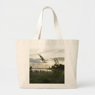 Volleyball at the Beach Large Tote Bag