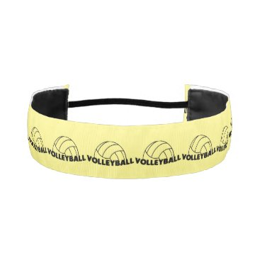 Beach Themed Volleyball Athletic Headband