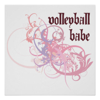 Volleyball Babe Print
